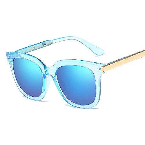 chuanglanja Gafas De Sol Mujer Joven Gafas De Sol Ovaladas De Ojo De Gato Para Mujer Lentes De Espejo Con Revestimiento Para Mujer Gafas De Sol De Moda UV400-05