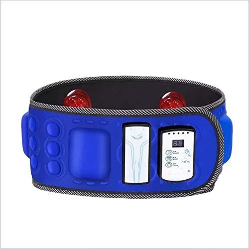 ZKKK Massage Gurt Wireless Charging Abdominal Fat Burning Weight Loss Vibration Abdominal Gerät Mit 3D Dual Infrarot Heizung + 36 Modi + Timing-Funktion