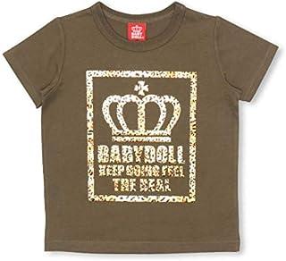 BABYDOLL(ベビードール)親子お揃い 箔ヒョウ柄Tシャツ 2181K カーキ 130cm