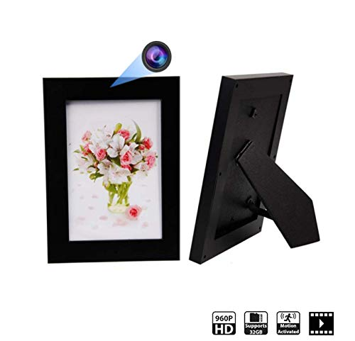 Hidden Spy Camera Photo Frame - Nanny Cam HD Recorder - Home Security Wireless Hidden Cameras with Motion Detection Video Only by 1 Eye Products