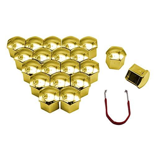 NFRADFM 20 Pcs Tapas para Tornillos de 19 mm Accesorios de Coches Tuercas de la Rueda Cap Auto Hub Tornillo Protector de la Cubierta, para Ford Mazda Accesorios neumáticos de automóvil KIA
