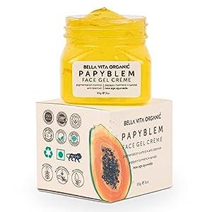 Bella Vita Organic PapyBlem Pigmentation Blemish Cream Gel For Spot Removal, Brightening & Lightening With Papaya & Saffron, 85 grams