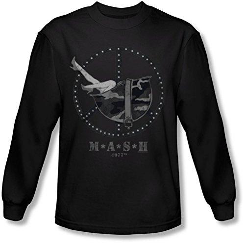 M*A*S*H - - Grande Casque manches longues pour hommes T-shirt, Large, Black