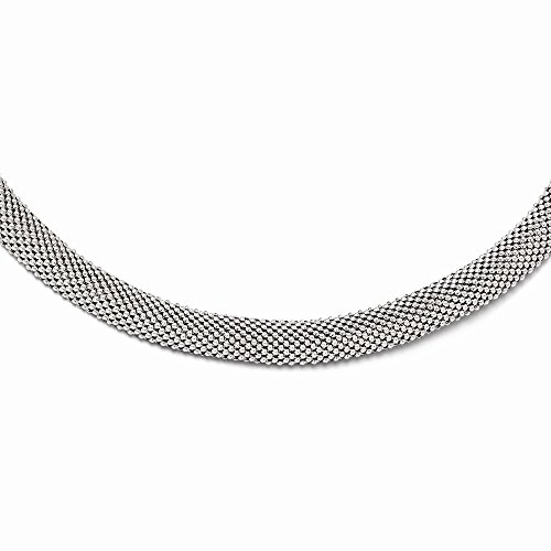 925 Sterling Silver Link Mesh Chain Necklace Pendant Charm Fine Jewelry For Women Gifts For Her