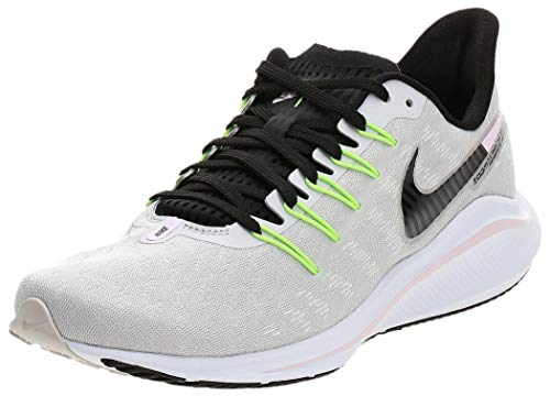 Nike Women's Air Zoom Vomero 14 Running Shoes (8, Grey/Pink/Lime)