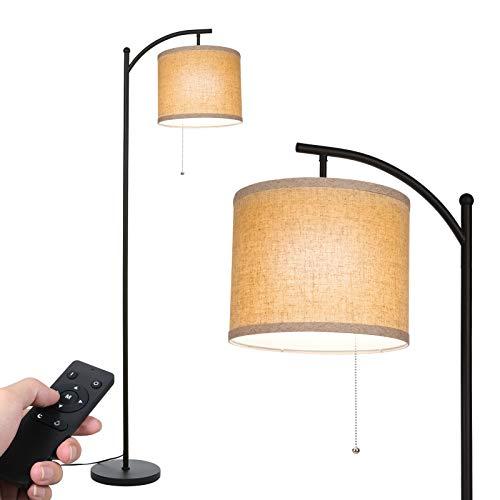 Stehlampe Wohnzimmer, Tomshine Stehleuchte mit Stoff Lampenshirm und Eisen Basis, Klassische Modern Standleuchte mit E27 LED Warmweiß Birne für Wohnzimmer, Schlafzimmer, Büro [Energieklasse A+++]