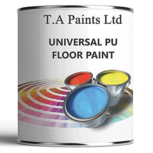 TA Paints Floor Paint for Concrete Garage Workshops and Factory Floors to Brick Stone, Wooden and Metal Floor Hard Wearing (Black, 20 Litre (4x5)