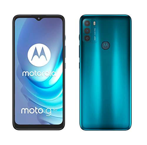 Motorola Moto g50 (Pantalla de 6.5' Max Vision HD+, Qualcomm Snapdragon 480 2.0 GHz octa-core, cámara triple de 48 MP, batería de 5000 mAH, Dual SIM, 4/128...
