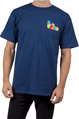 Neff Herren Pocket Short Sleeve Tee T-Shirt, Navy, Klein