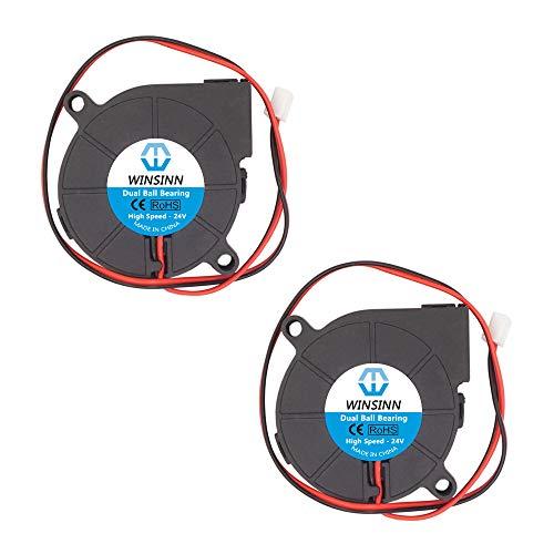 WINSINN Dual Ball Bearings 50mm Blower Fan Brushless Cooling 24V 5015 50mm15mm (Pack of 2Pcs)