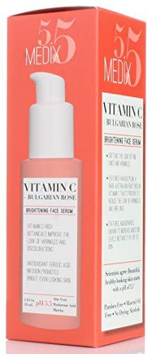 41y67MyyNPL - Medix 5.5 Vitamin C Cream & Vitamin C Serum Two Piece Set. Anti-Aging Vitamin C Set with Vitamin E & Turmeric for Brightening, Dark Spots, Discoloration, and Sun Damaged Skin. 15oz Cream + 2oz Serum.