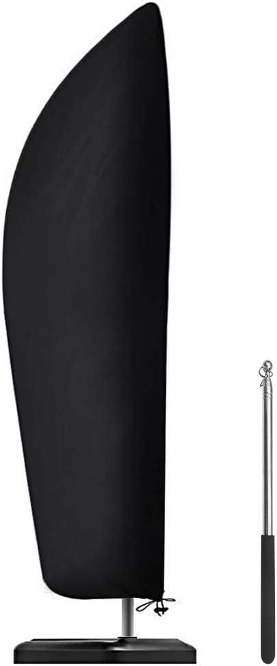 Senders Sonnenschirm Schutzhülle mit Stab, Ampelschirm Schutzhülle 2 bis 4 m Große Sonnenschirm Abdeckung 210D-Oxford-Gewebe Wasserdicht Staubdicht…