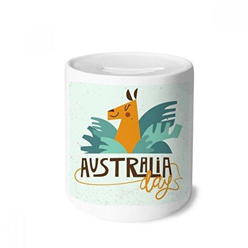 DIYthinker Australien Sydney Opera House und Giraffe Spardose Sparkassen Keramik Münzfach 3.5 Zoll in Height, 3.1 Zoll in Duruchmesser Mehrfarbig