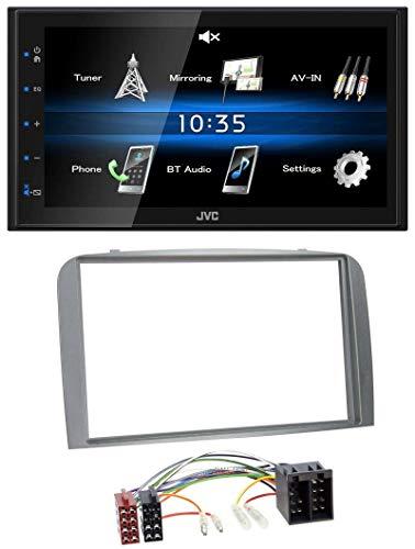 caraudio24 JVC KW-M25BT USB 2DIN Bluetooth MP3 AUX Autoradio für Alfa Romeo 147 GT 00-10 Silber