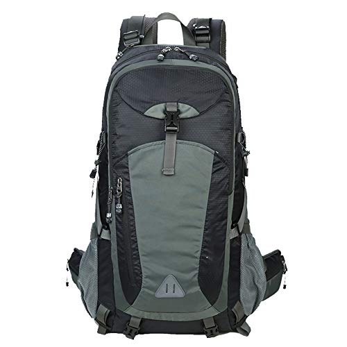 Bolsa de alpinismo al aire libre, mochila ligera de nylon impermeable con gran capacidad, unisex, cuatro colores-black-60L