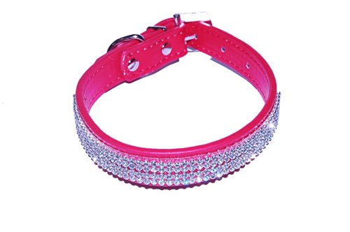 Collare per cani in pelle e diamante decorato con gioielli Pet Palace 'Diva Doggy'