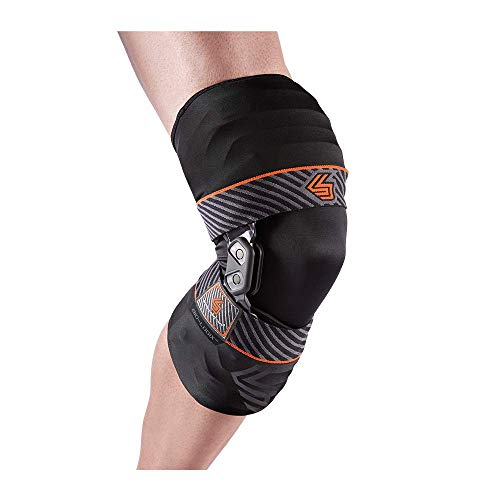 Shock Doctor Knee Brace w/Compression Sleeve, Maximum Knee Support for Knee Instabilities, Pain Relief & Injury Recovery for Men & Women, Sold as Single Unit (1)
