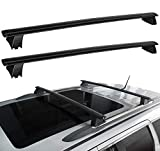 WU-MINGLU Roof Rack Crossbars Compatible for 2011-2021 Jeep Grand Cherokee Roof Rack Cross Bars with Grooved Side Rails for Carrying Cargo Carrier Bag Canoe Kayak Bike