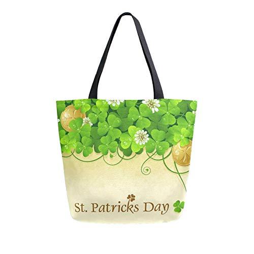RURUTONG Bolsa de lona para el día de San Patricio, para comestibles, bolsa de playa, reutilizable, multiusos, resistente, para actividades al aire libre 2012003