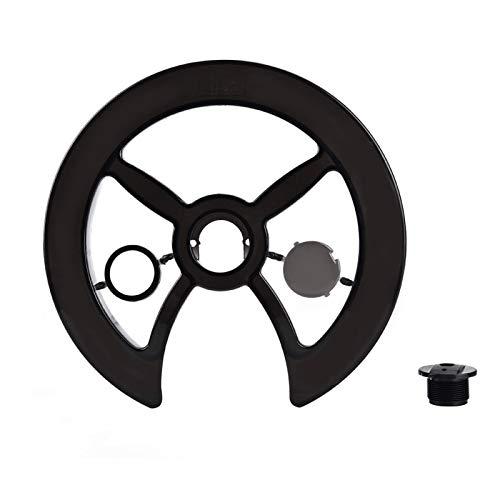 Cubierta protectora de cadena de bicicleta - Protector de anillo de cadena de bicicleta Protector de plato de bicicleta Cubierta protectora de rueda de cadena Protector de cadena