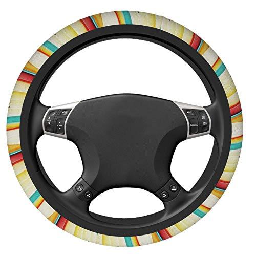 Funda de volante para tabla de surf, antideslizante, suave, universal, cómodo, elástico, decoración interior del coche, duradero, no se decolora, accesorios de coche