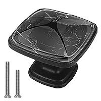 キャビネットノブ4個クリスタルガラスプルハンドル黒い大理石の背景 家具のドアまたは引き出しを開く場合