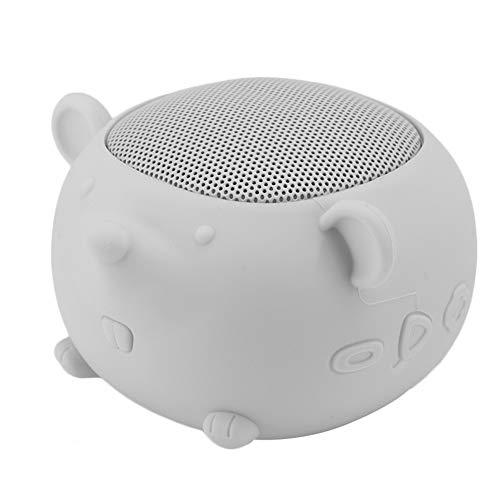 VBESTLIFE draagbare Bluetooth - luidspreker, schattige muis siliconen Bluetooth 5.0 - luidspreker met ingebouwde microfoon voor mobiele telefoons, voor iPads, MP3 enz, grijs