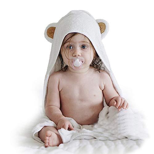Bebé con capucha toallas de baño, infantil fibra de bambú del edredón de la historieta de los niños de la Osa color sólido con el casquillo de la toalla de baño de la muchacha del muchacho del bebé