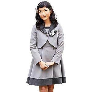 [CHOPIN(ショパン)] 卒業式 小学生 女の子 スーツ セーラー襟アンサンブル 8801-6500 (グレー, 150)