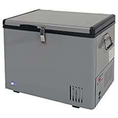 "External dimensions: 23.5″ W x 16.5″L x 20.5″ H | Net weight: 45 lb 45 Quarts or 60 Cans (12FL oz) capacity; Adjustable temperature range: -8°F to 50°F; LED temperature display; ""Fast Freeze"" mode rapidly cools to -8°F 8-feet AC power cord and 10-fee..."
