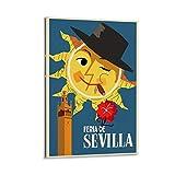 SANDYN Vintage-Reise-Poster Feria De Sevilla Poster