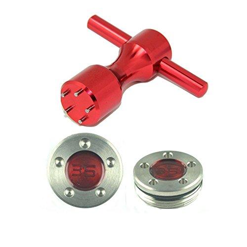 Beehive Filter Lot de 2 poids de golf rouges de 35 g avec clé rouge pour Titleist California...