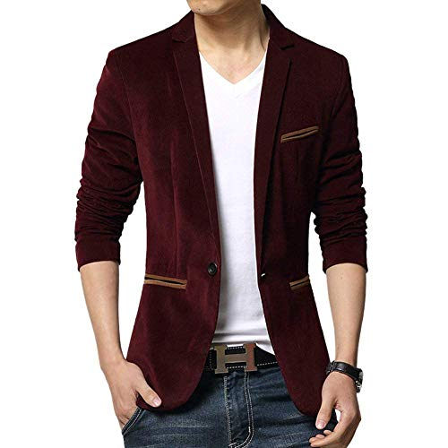 Adelina slim fit velours colbert blazer vrije tijd jongens herenmode business jas pak jas Sakko slim fit casual outdoorwear