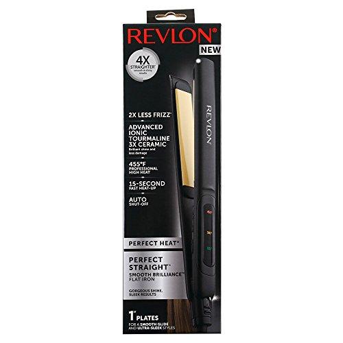 Revlon Perfect Straight Smooth Brilliance Ceramic Flat Iron, 1 inch