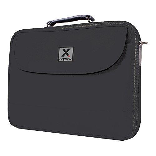 ca. Ultra bescherming nylon notebook draagtas voor 43,2 cm laptop - zwart