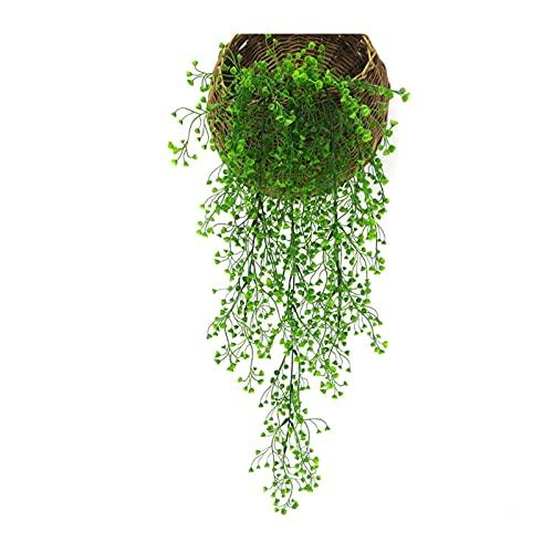 Plantas Artificiales Exterior Planta Artificial Vid Colgante De Pared Simulación Rama De Hoja De Vid Planta Verde Boda Decoración De Jardinería Decoraciones Para Fiestas Ramo De Flores ( Color : 1 )