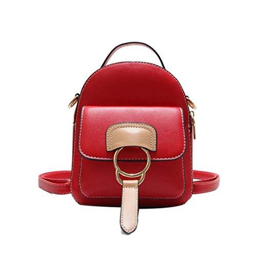 Haiwan Trendy Patchwork Daypack Frauen Tagesrucksack Henkel Rucksack Mini Reiserucksack Haltbar...