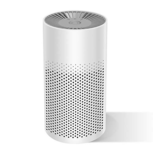 THE THREE MUSKETEERS III M Mini Portable Air Purifier for Home Bedroom Office Desktop Pet Room Air Cleaner for Car with Filters Energy Conservation and Silence