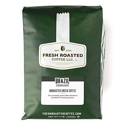 Fresh Roasted Coffee, Unroasted Brazil Cerrado, Kosher, 5 Pound