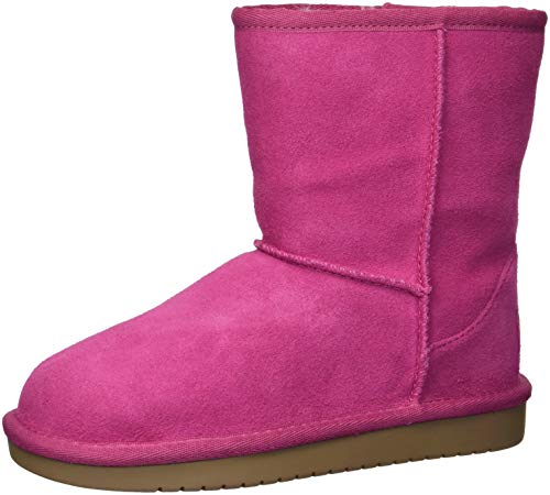 Koolaburra by UGG Kid's Koola Short Classic Boot, Raspberry Rose, 32.5 EU