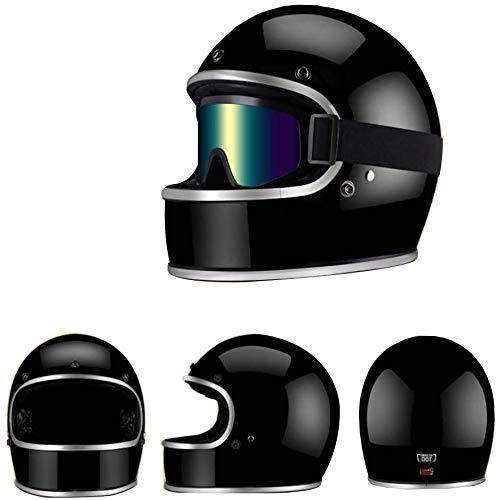ZHXH Motocross Integralhelm, alle mit Glasfaser + Wartung Okular/Punkt zertifizierter Ece Atv Scooter Scooter Helm,