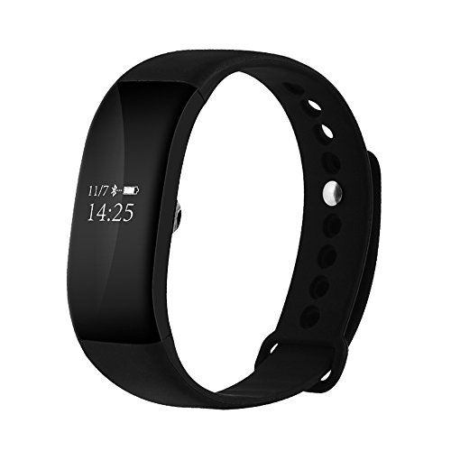 EWEMOSI Fitness Tracker - Heart Rate Blood Pressure Monitor - Bluetooth Wireless Smart Bracelet - Water Resistant Outdoor Activities Tracker - for Android iOS