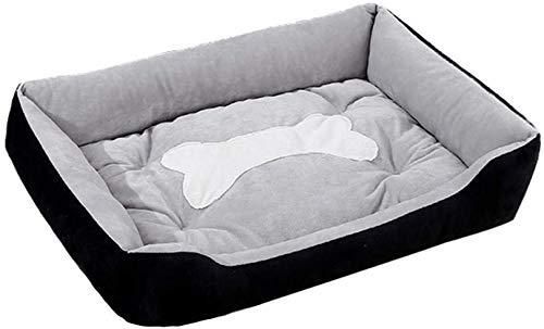 Plus Size Hundebett Matratze Eindickung warm Haustier-Bett-Mat verfügbar all seasons extra großes Hundebett Haus Sofa-red_95x76x15cm, blau, 95x76x15cm Jialele ( Color : Black , Size : 56x46x15cm )