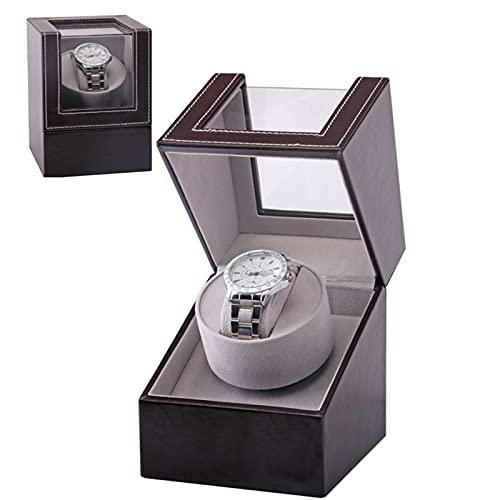 XINJIABAO Aufbewahrungsbox-Geschenkbox ansehen Automatischer Uhrenschüttler, Elektrische Wickelschachtel, Teller-Motorbox, Display-Aufbewahrungsbox Anzeigen (Color : Brown, Size : One Size)