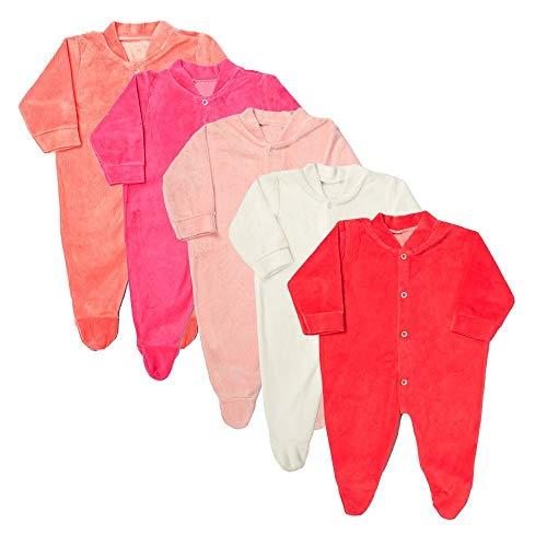 Macacão Plush Bebê Kit 5 Peças Pijama Feminino Tamanho:P
