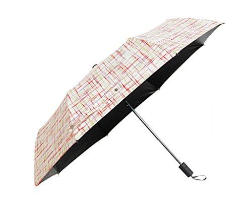 Xx101 Paraguas Paraguas Sombrilla Sombrilla For Mujer Enrejado Paraguas Paraguas Lluvia Plegable Maleta Doble Paraguas Manual Paraguas De Tres Pliegues Accesorios de Viaje