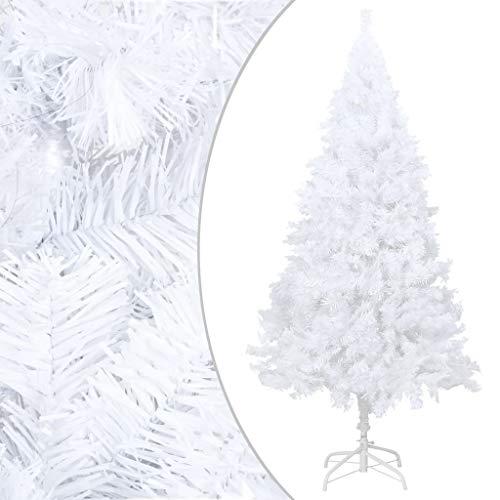 UnfadeMemory Albero di Natale Artificiale con Rami Folti, per Natale, Capodanno (Bianco, 150 cm)