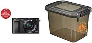 ソニー SONY ミラーレス一眼 α6000 パワーズームレンズキット E PZ 16-50mm F3.5-5.6 OSS ブラック ILCE-6000L B+HAKUBA ドライボックスNEO 9.5L スモーク 防湿庫 KMC-40