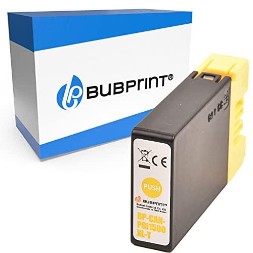 Bubprint Kompatibel Druckerpatrone als Ersatz für Canon PGI-1500XL Y für Maxify MB2000 MB2050 MB2100 MB2150 MB2155 MB2300 MB2350 MB2700 MB2750 MB2755 Gelb