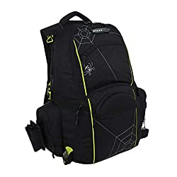 Spiderwire fishing tackle backpack with 3 boxes and plenty of tool storage.